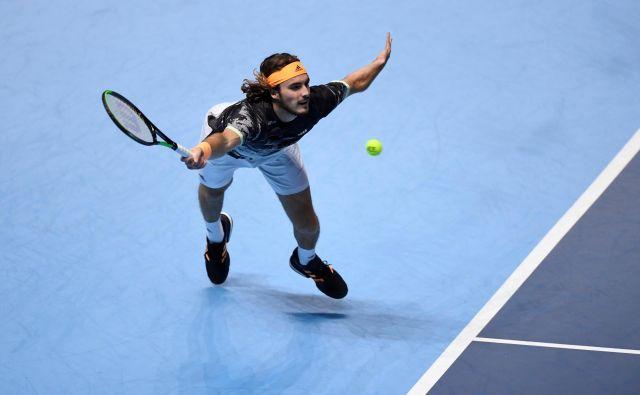 Stefanos Tsitsipas je pred letom dni zmagal na mastersu naslednje generacije, letos je že med elito. FOTO: Reuters