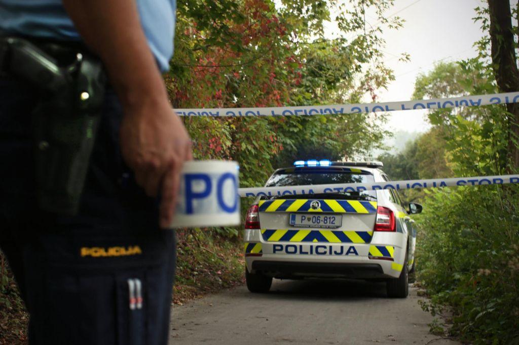 V nesreči umrl 77-letnik, ki je po izstopu iz vozila padel po strmem pobočju