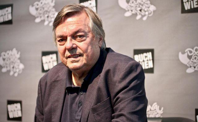 Drago Jančar je na Dunaju govoril o romanu <em>In ljubezen tudi</em>, ki je letos poleti izšel v nemščini. Foto Igor Bratož