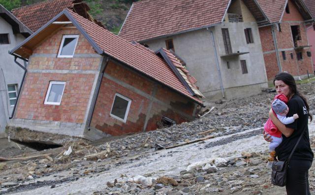 Posledice poplav v Krupnju maja 2014. FOTO: Tomi Lombar/Delo