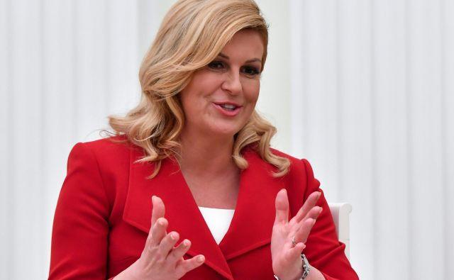 Po mnenju Kolinde Grabar-Kitarović je od njih samih odvisno, kakšno Hrvaško bodo zgradili in kaj bodo zapustili svojim otrokom. FOTO: Reuters