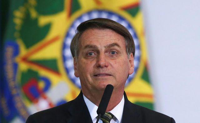 Srečanja se bo udeležil tudibrazilski predsednik Jair Bolsonaro. FOTO: AFP