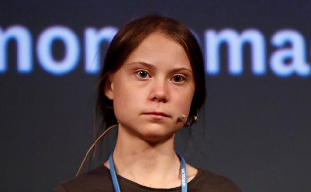Greta Thunberg vnaprej pove, kakšno je njeno dojemanje sveta – črno-belo – in kaj želi doseči – strah in paniko. FOTO: Reuters