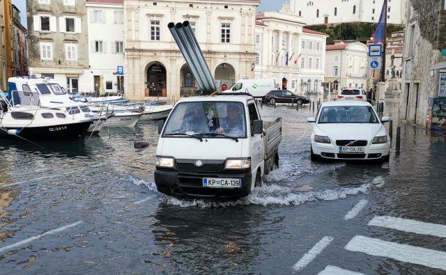 Poplave na Obali. FOTO: Boris Šuligoj