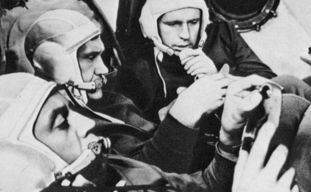 Na krovu zadnjega od treh plovil, Sojuza 7, so bili trije kozmonavti: Anatolij Filipčenko, Vladimir Volkov in Viktor Gorbatko. Foto Roskozmos
