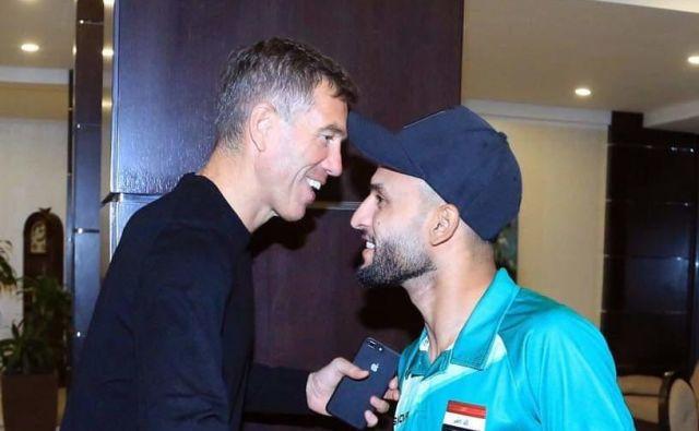 Srečko Katanec je pozdravil igralce v Jordaniji. FOTO: Facebook