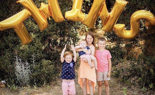 Bode in Morgan Miller imata ob novorojencih še dva sinova, nekdanji smučarski as ima dva še iz prejšnjih zvez. FOTO: Twitter