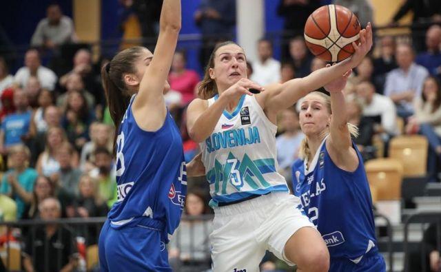 Teja Oblak je bila prvi slovenski adut v Celju. FOTO: FIBA