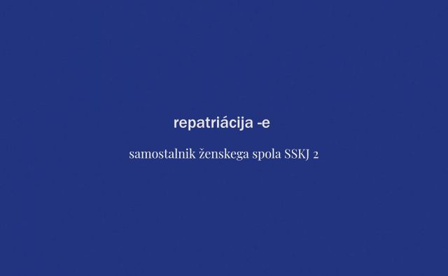 Tokratna beseda tedna je repatriacija. FOTO: Delo