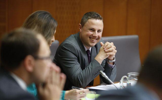 Žan Mahnič, poslanec SDS. FOTO: Leon Vidic/delo