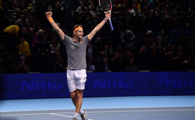 Dominic Thiem velja bolj za specialista za peščena igrišča, a je letos že osvojil turnir iz serije masters v Indian Wellsu, zdaj pa je tudi finalist sklepnega turnirja. FOTO: AFP