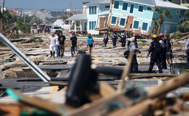 Tako je Mexico Beach na Floridi lani prizadel orkan Michael. FOTO: Reuters
