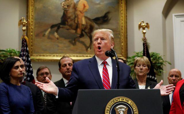 Ameriški predsednik Donald Trump. FOTO: Tom Brenner Reuters