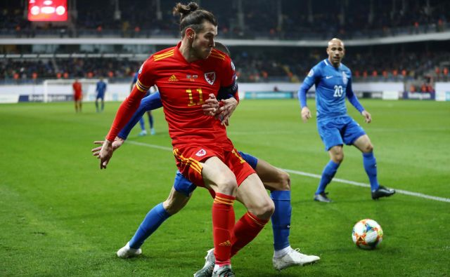 Gareth Bale je v Bakuju proti Azerbajdžanu (2:0)j igral le eno uro in se čuval za današnjo odločilno tekmo proti Madžarski. FOTO: Reuters