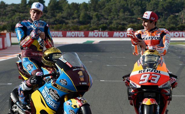 Brata Alex in Marc Marquez bosta v prihodnji sezoni dirkala za Repsol Hondo. FOTO: AFP