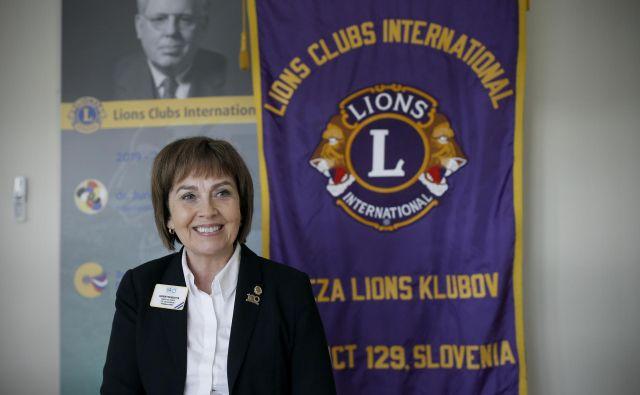Gudrun Yngvadottir, prva mednarodna predsednica organizacije Lions, pravi, da želi s svojim zgledom opogumiti tudi druge ženske. FOTO: Blaž Samec