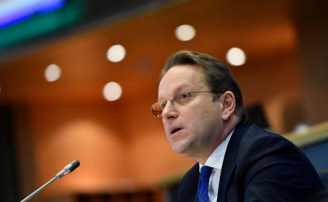 Odločen zagovornik širitve EU na Balkan je tudi madžarski kandidat za komisarja za sosedstvo in širitev Olivér Várhelyi. FOTO: John Thys/AFP