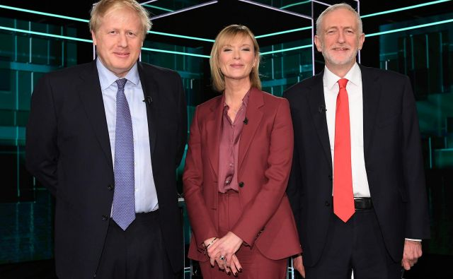 V prvem televizijskem soočenju sta se pomerila vodji britanskih konservativcev in laburistov Boris Johnson in Jeremy Corbyn.<br /> FOTO: Reuters