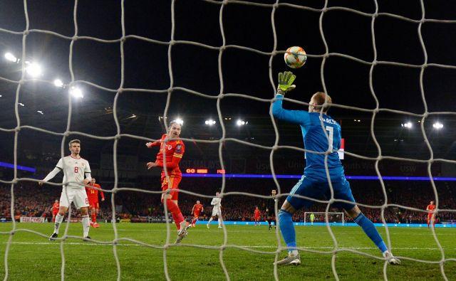 Aaron Ramsey je Valižanom z dvema goloma proti Madžarski priboril vozovnico za euro 2020. FOTO: Reuters