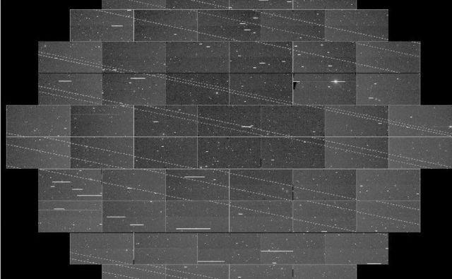 Sateliti so pri zajemu kamere na posnetku pustili moteče črtice. FOTO: Cliff Johnson