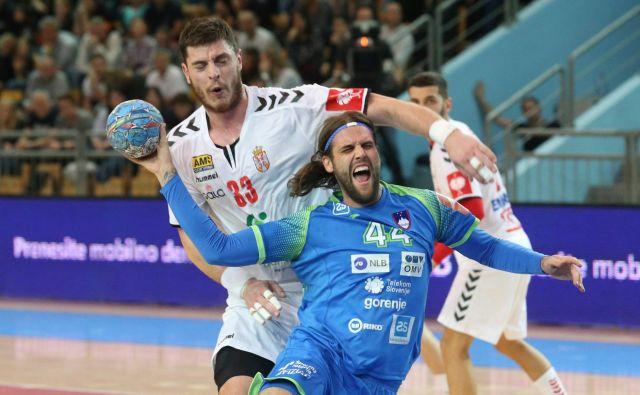Dean Bombač je eden od nosilcev igre slovenske reprezentance, ki je pred mesecem premagala Srbijo. FOTO: Tadej Regent