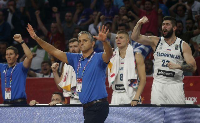 Igor Kokoškov je izjemno uspešno vodil slovensko reprezentanco na EP 2017, na katerem je v finalu premagala Srbijo. Foto Blaž Samec