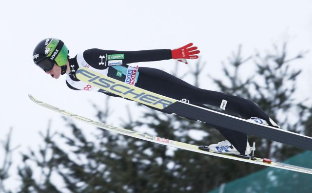 Peter Prevc je z zelo dobrimi skoki v Visli presenetil vse po vrsti – tudi samega sebe. FOTO: AFP