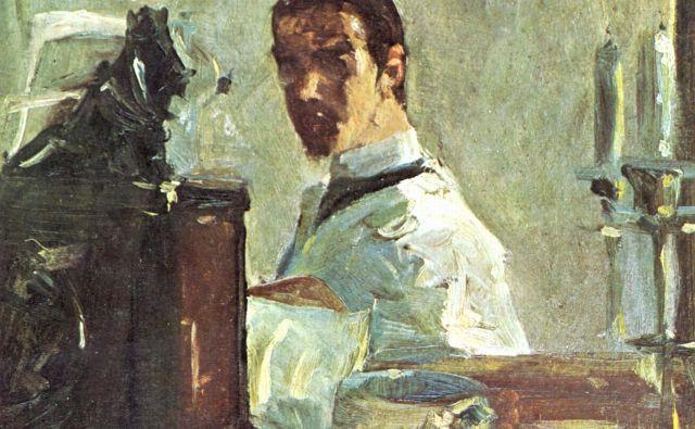 Henri De Toulouse-Lautrec: Avtoportret pred ogledalom