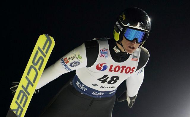 Peter Prevc je v finalu prikazal občutno boljši skok kot v prvi seriji. FOTO: Reuters
