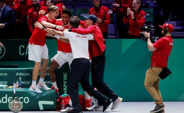 Za Kanado bo to prvi nastop v finalu Davisovega pokala. FOTO: Susana Vera/Reuters