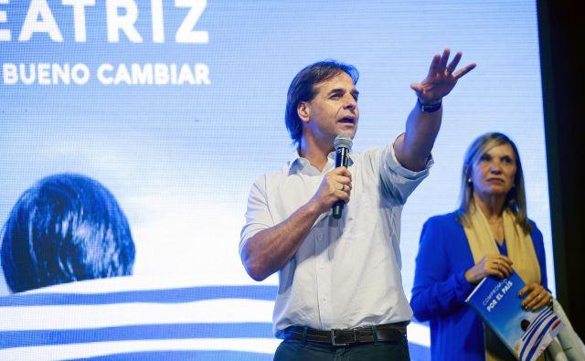 V naslednjem mandatu bo Urugvaj predvidoma vodil 46-letni Luís Lacalle Pou. FOTO: Mariana Greif/Reuters