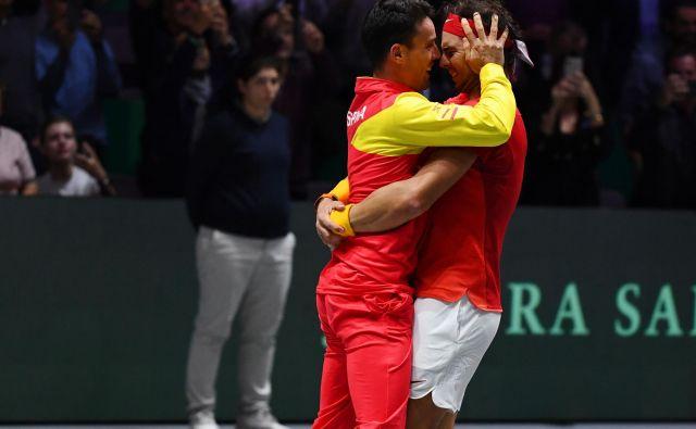 Rafael Nadal in Roberto Bautista Agut sta popeljala Španijo do šeste zmage v Davisovem pokalu. FOTO: AFP