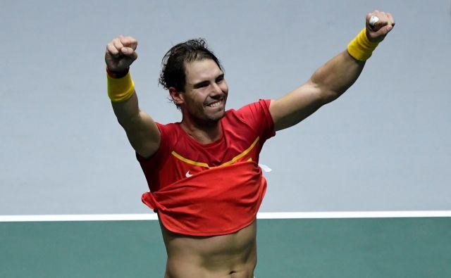Rafael Nadal je izjemno sezono kronal z zmago v Davisovem pokalu. FOTO: AFP