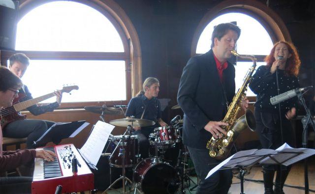 Saksofonist Tadej Tomšič na predstavitvi albuma <em>Orion saksofon.</em><br /> Foto Zdenko Matoz