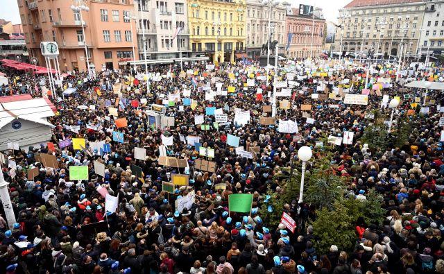 Splošni stavki šolnikov bodo sledile številne druge v javnem sektorju. FOTO:Denis Lovrovic/AFP