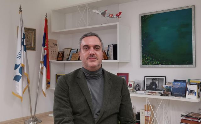 Marko Čadež, predsednik Gospodarske zbornice Srbije, v katero je vključenih 400 tisoč domačih in tujih gospodarskih družb in podjetnikov. Foto Milena Zupanič
