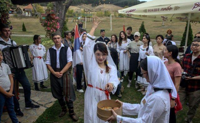 Kitajsko slavje v srbski vasi Gostoljublje FOTO: AFP