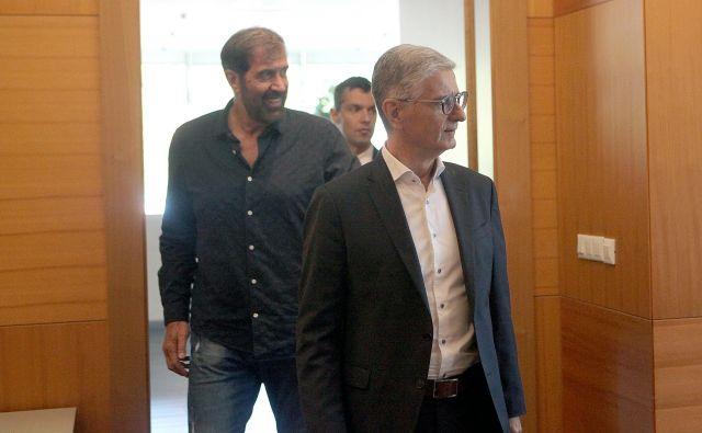Franjo Bobinac in Veselin Vujović sta sredi septembra zagotovila, da bodo vsi dali maksimum za dosego cilja na bližnjem EP: FOTO: Mavric Pivk/Delo