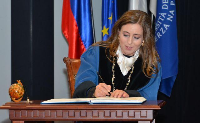 Prof. dr. Klavdija Kutnar je prevzela dolžnosti rektorice Univerze na Primorskem. FOTO: Alen Ježovnik/UP