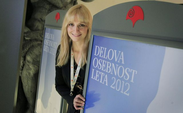Takole je leta 2012 Ana Lukner postala Delova osebnost leta 2012. FOTO: Leon Vidic
