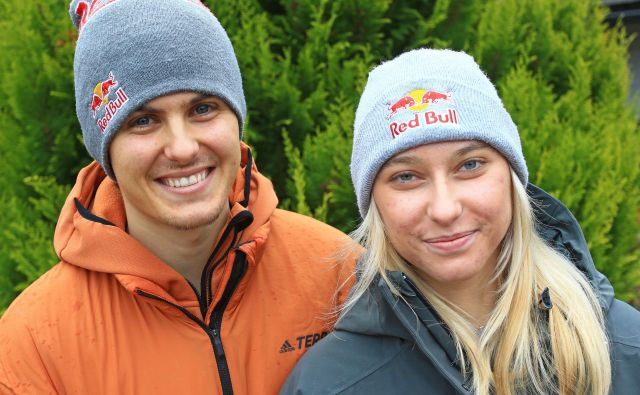 Domen Škofic in Janja Garnbret sta par pet let. Takoj sta se ujela. Združila ju je ljubezen do plezanja. FOTO: Tomi Lombar/Delo