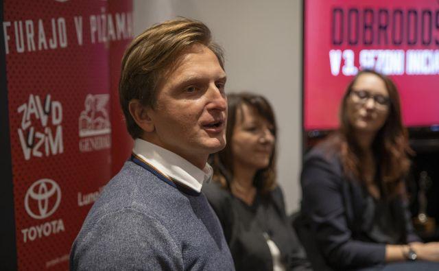 David Razboršek, direktor Zavoda Vozim, je predstavil letošnjo kampanjo, nato pa odhitel slovenske zamisli razložit v Bruselj.<br /> FOTO: Arhiv Zavod Vozim