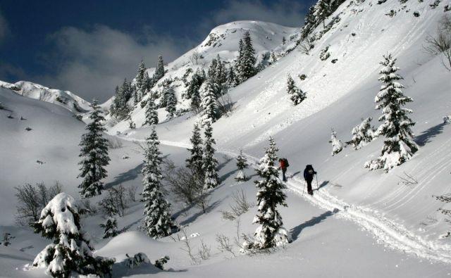 Julijske Alpe pod snežno odejo.FOTO: Manca Ogrin