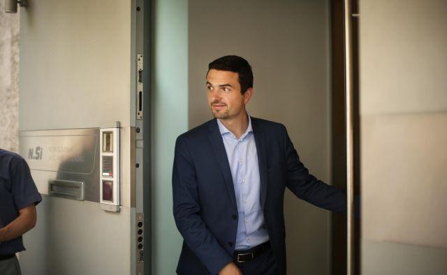 Matej Tonin se ne boji sodnega dokazovanja svoje nedolžnosti. FOTO: Jure Eržen/Delo