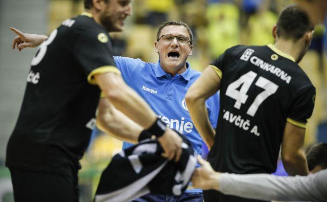 Trener Zoran Jovičić bo imel spomladi težak izziv v pokalu EHF. FOTO: Uroš Hočevar
