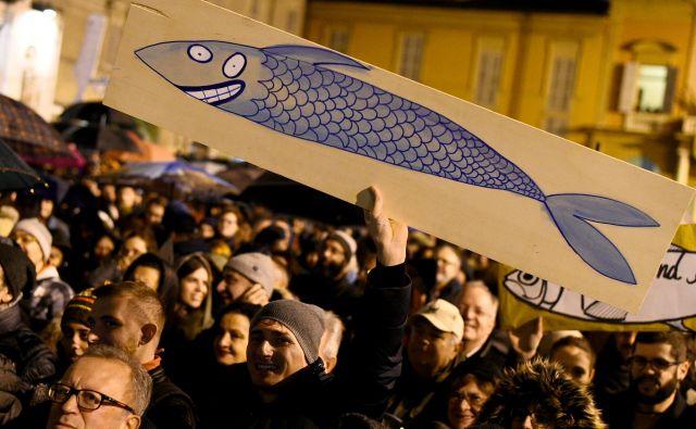 Nismo politično gibanje, smo protitelesca, pravijo mladi organizatorji iz Bologne.<br /> FOTO: Reuters
