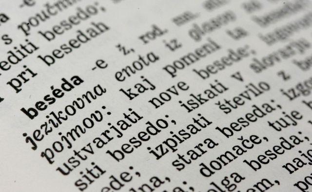 Slovar slovenskega knji�nega jezika. FOTO: Leon Vidic/Delo