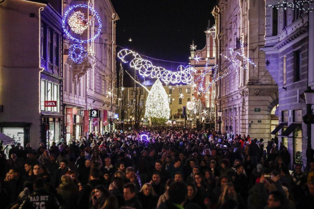 Prižig lučk v Ljubljani