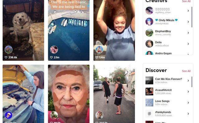 Tiktok je trenutno najhitreje rastoče družbeno omrežje. Šteje 500 milijonov uporabnikov. FOTO:Tiktok.com