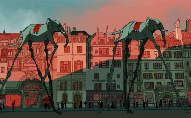 Ob široki paleti živali na <em>Animateki</em> v nadrealistični pustolovščini, ki obuja resnično epizodo v življenju Buñuela, ne gre brez slonov.<br /> Foto arhiv Animateke